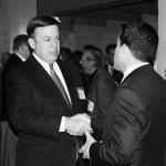 ASU President Michael Crow, Kyle Moyer